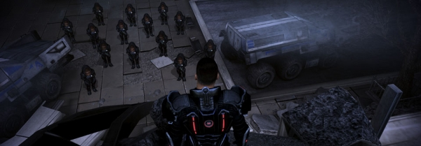 Shepard looks upon his army of Krogan!